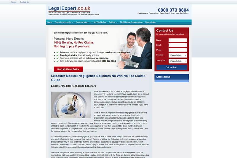 No Win No Fee Solicitors Leicester - List of lawyers